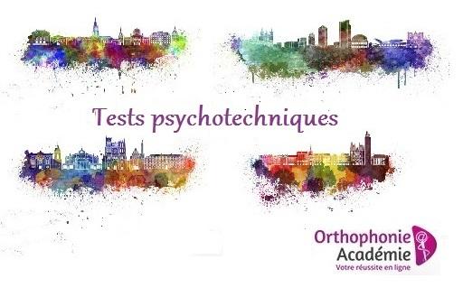 cours et exercices de préparation aux tests psychotechniques concours orthophonie