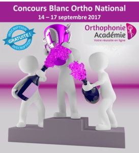 Concours orthophonie blanc national
