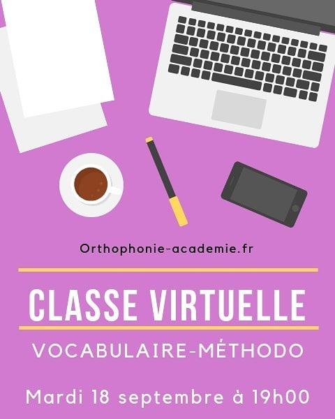 Classe virtuelle Concours Orthophonie Académie