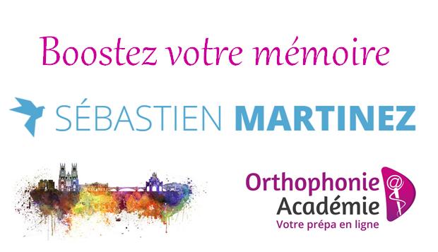 concours orthophonie academie mémoire sébastien martinez