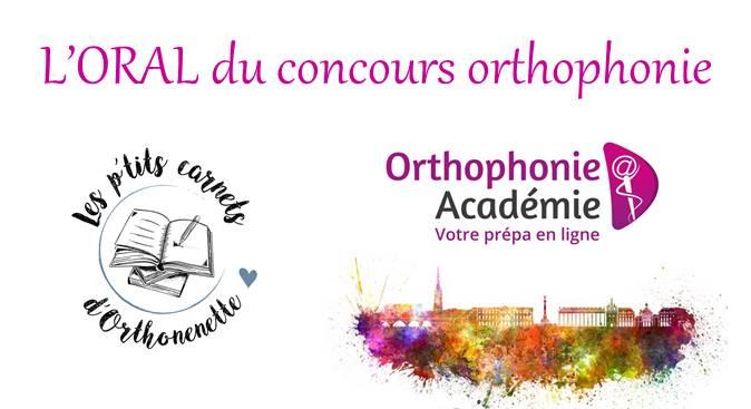 Pack préparation à l'oral du concours orthophoniste