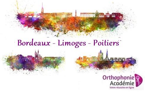 concours orthophoniste bordeaux limoges poitiers