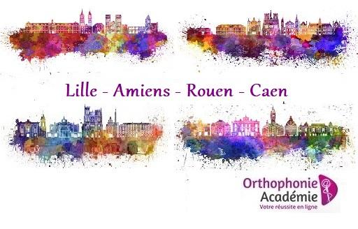 concours orthophoniste Lille Amiens Rouen Caen